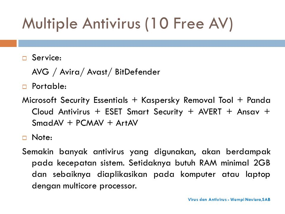 Multiple Antivirus (10 Free AV)