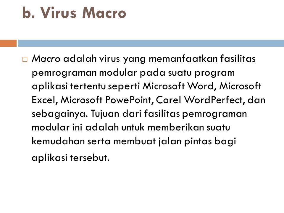 b. Virus Macro