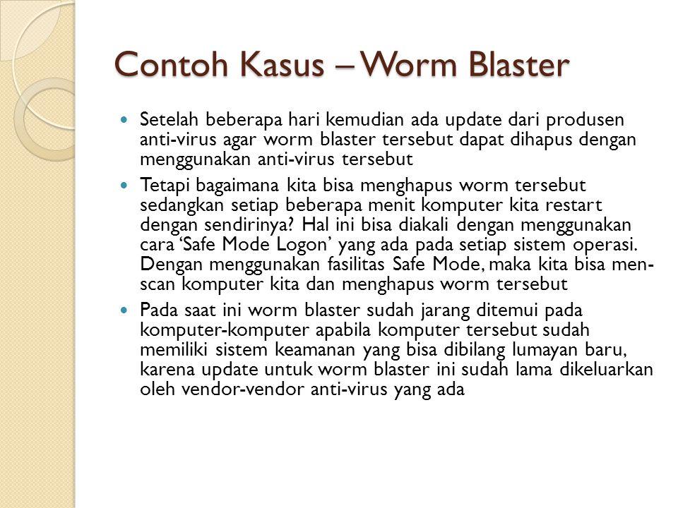 Contoh Kasus – Worm Blaster