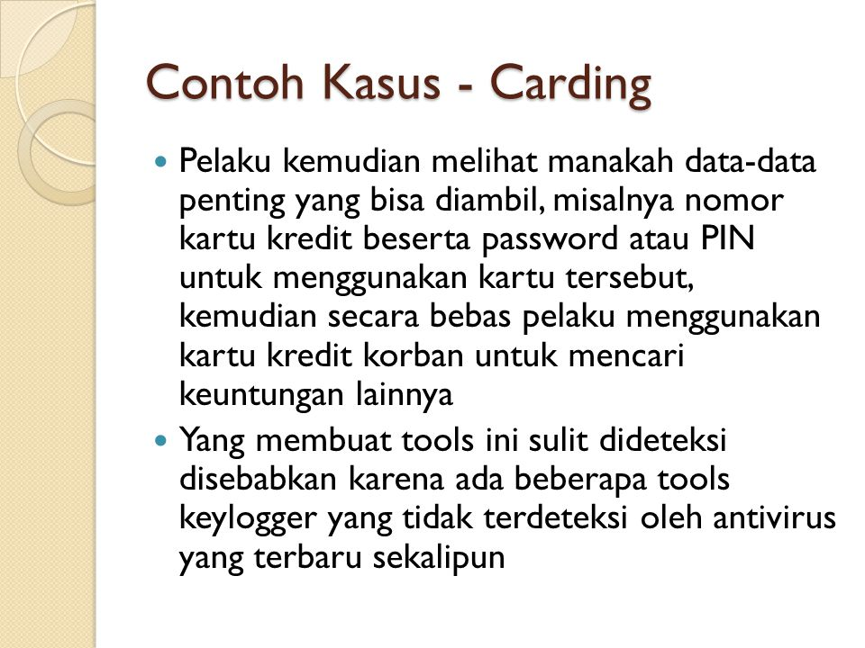 Contoh Kasus - Carding
