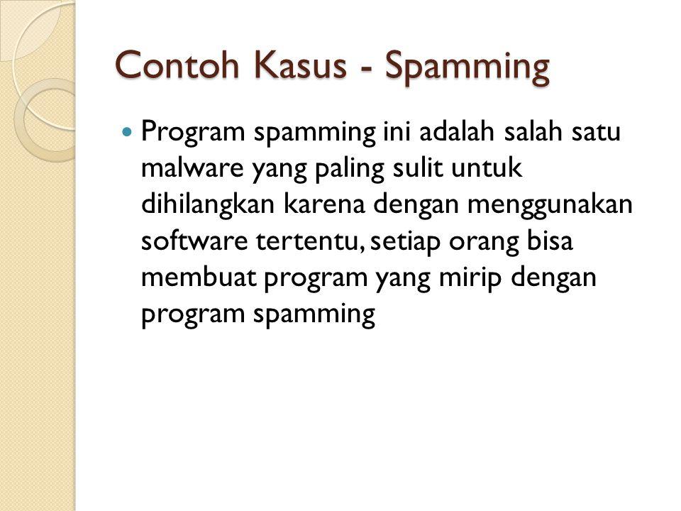 Contoh Kasus - Spamming