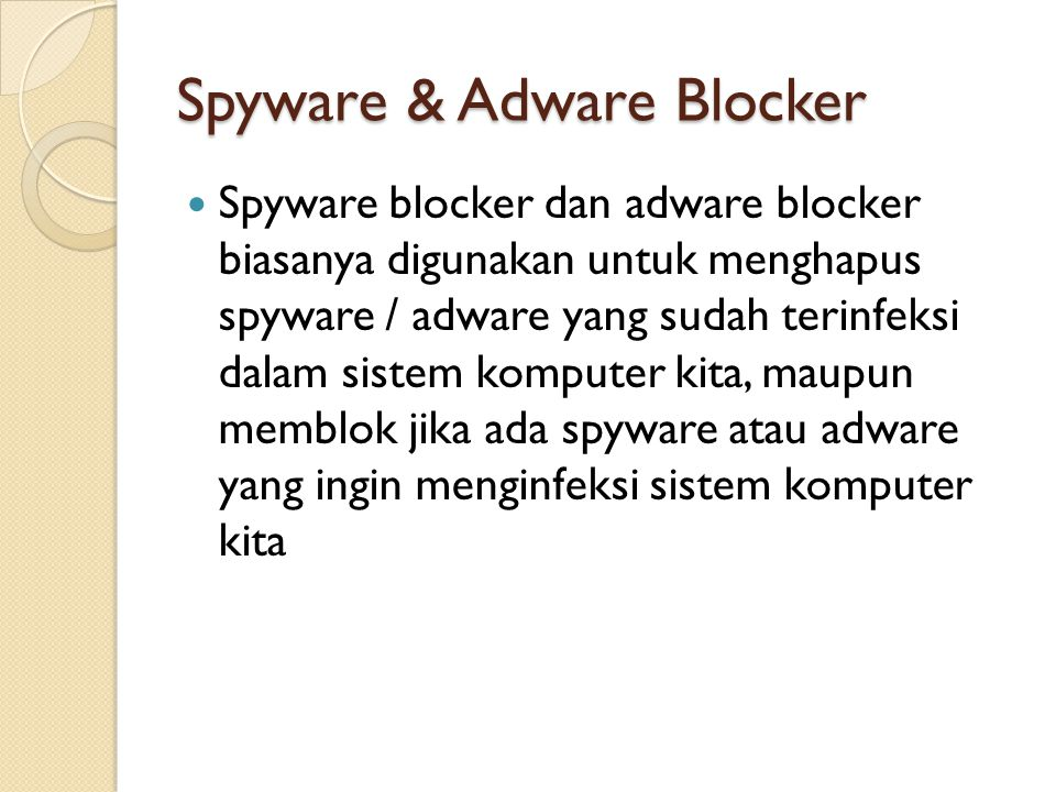 Spyware & Adware Blocker