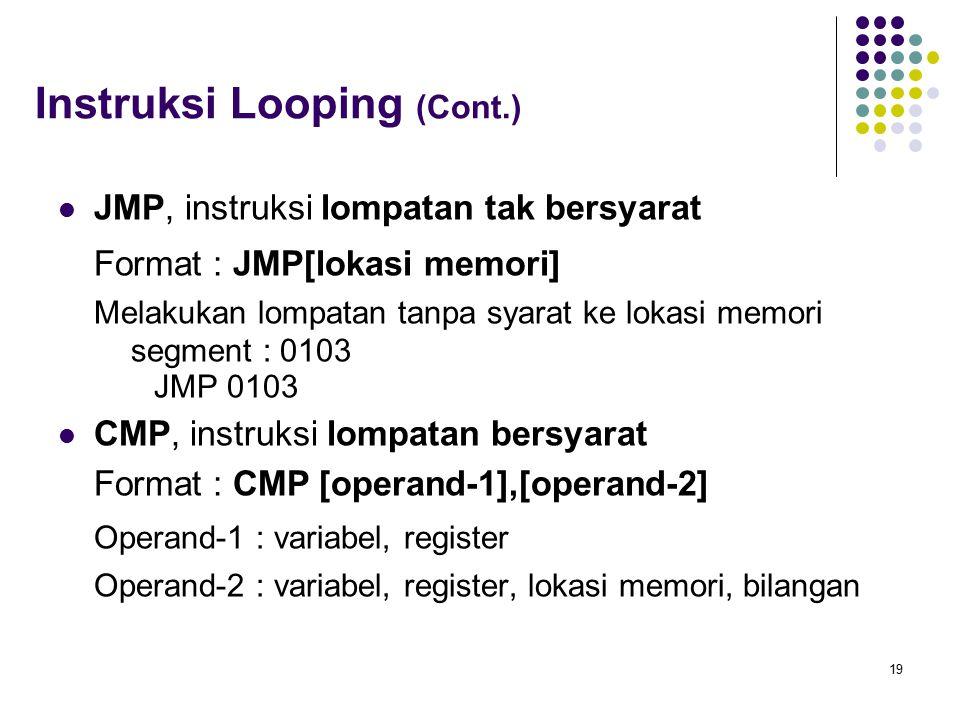Instruksi Looping (Cont.)