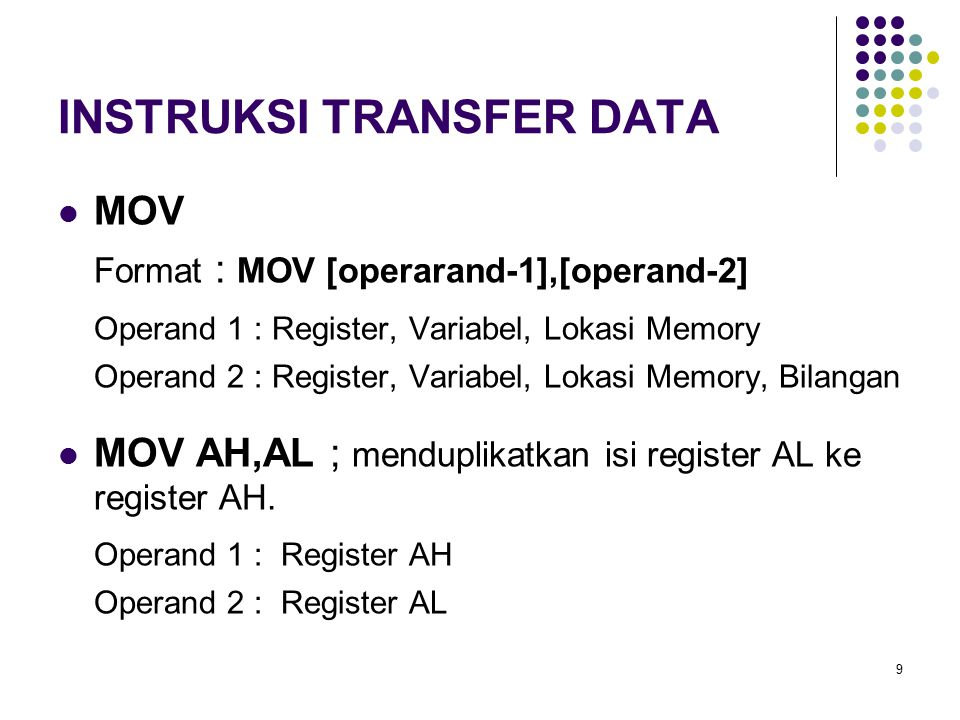INSTRUKSI TRANSFER DATA