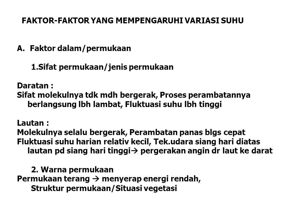 FAKTOR-FAKTOR YANG MEMPENGARUHI VARIASI SUHU
