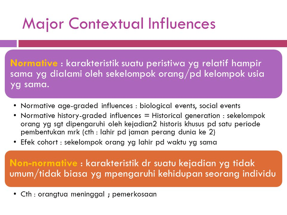 Major Contextual Influences