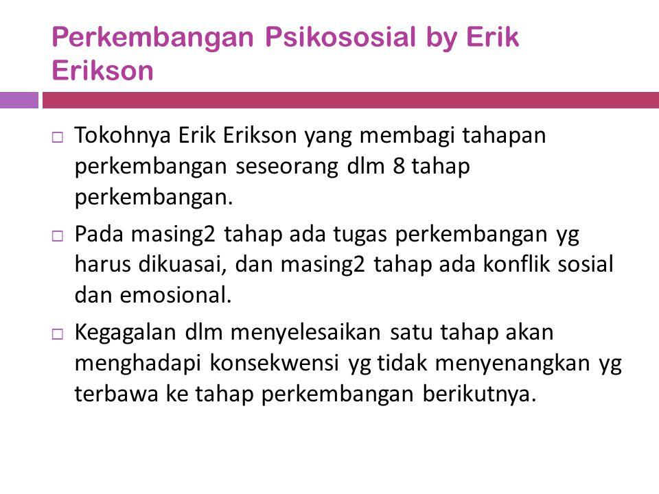 Perkembangan Psikososial by Erik Erikson