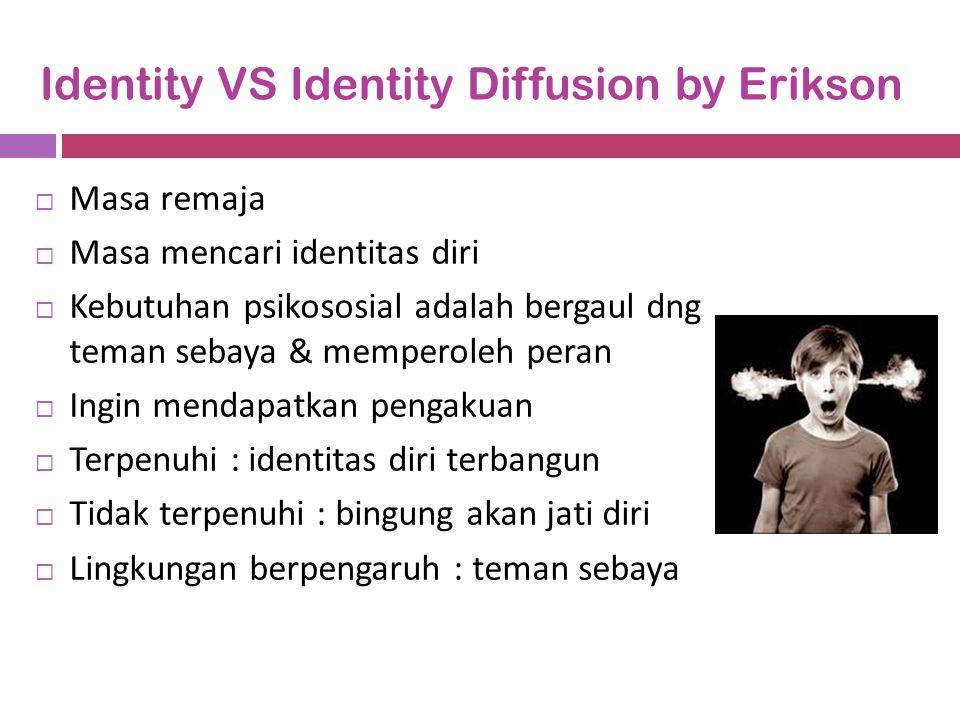 Identity VS Identity Diffusion by Erikson