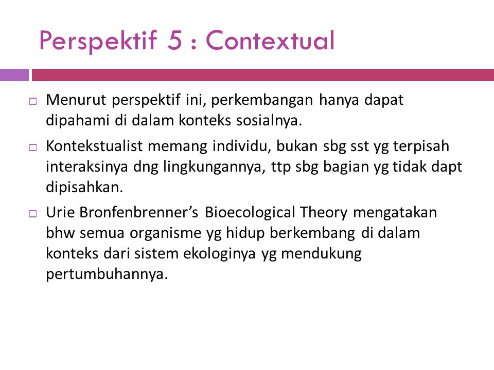 Perspektif 5 : Contextual