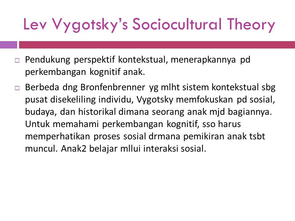 Lev Vygotsky's Sociocultural Theory