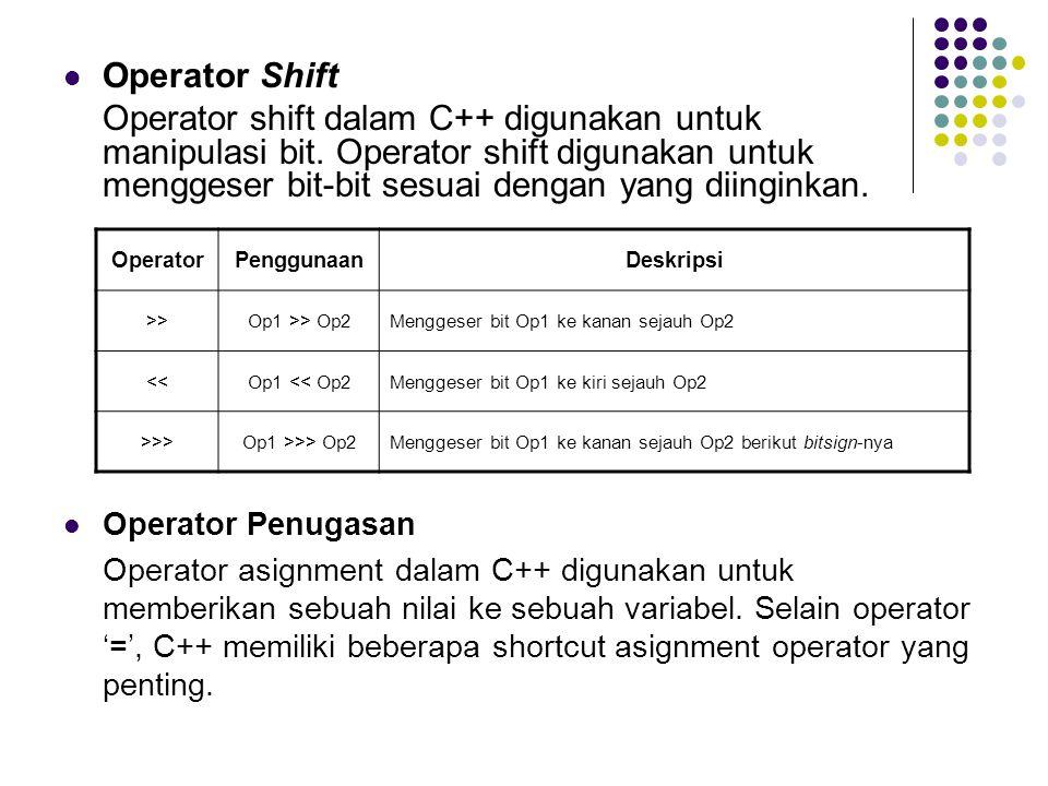 Operator Shift