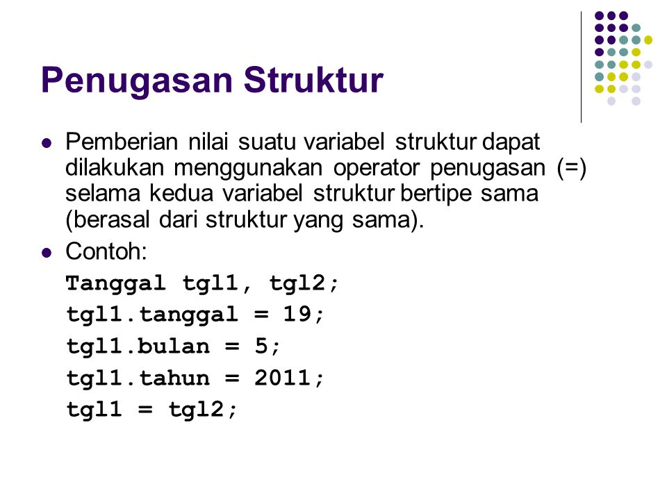 Penugasan Struktur