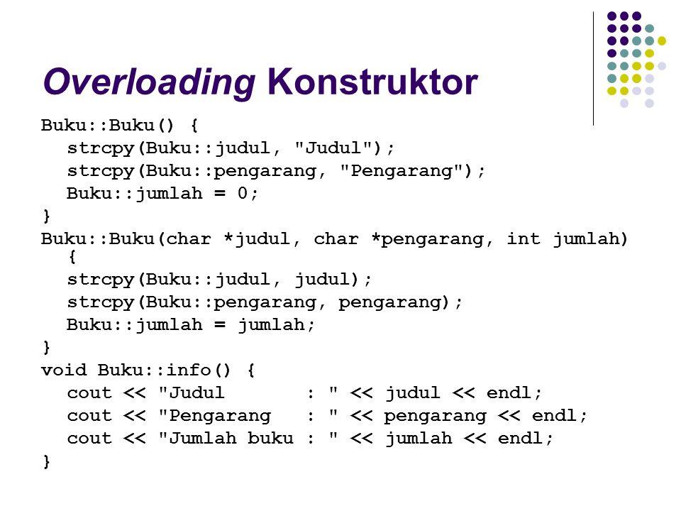 Overloading Konstruktor