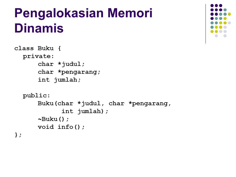Pengalokasian Memori Dinamis