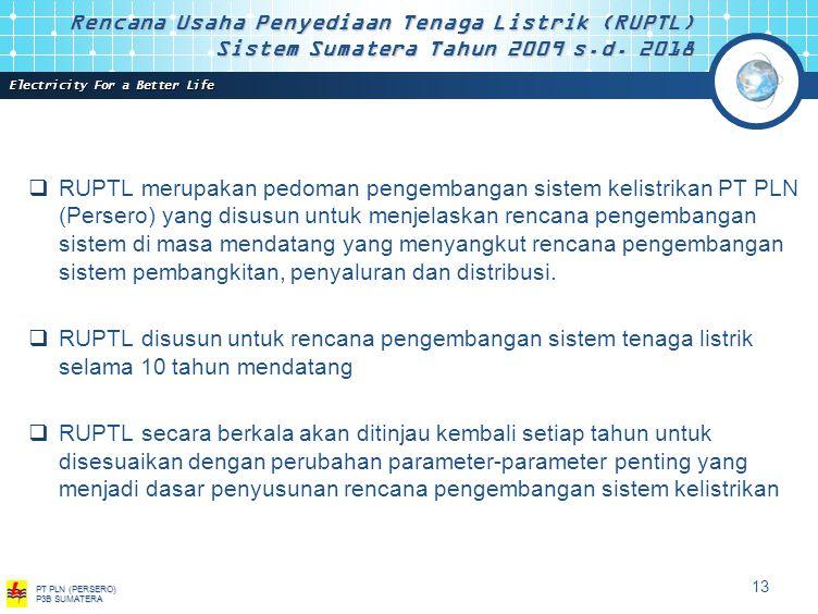 Rencana Usaha Penyediaan Tenaga Listrik (RUPTL) Sistem Sumatera Tahun 2009 s.d. 2018