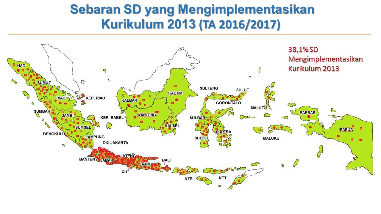 Sebaran SD yang Mengimplementasikan Kurikulum 2013 (TA 2016/2017)
