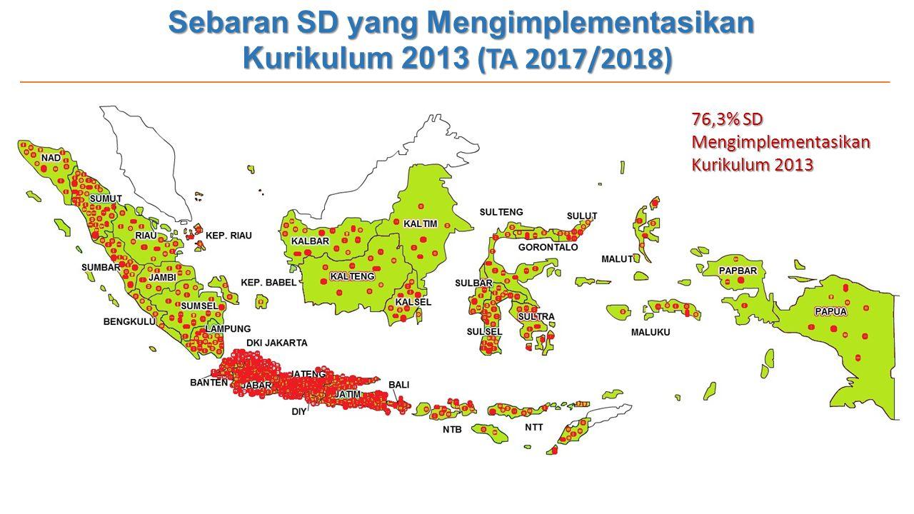 Sebaran SD yang Mengimplementasikan Kurikulum 2013 (TA 2017/2018)