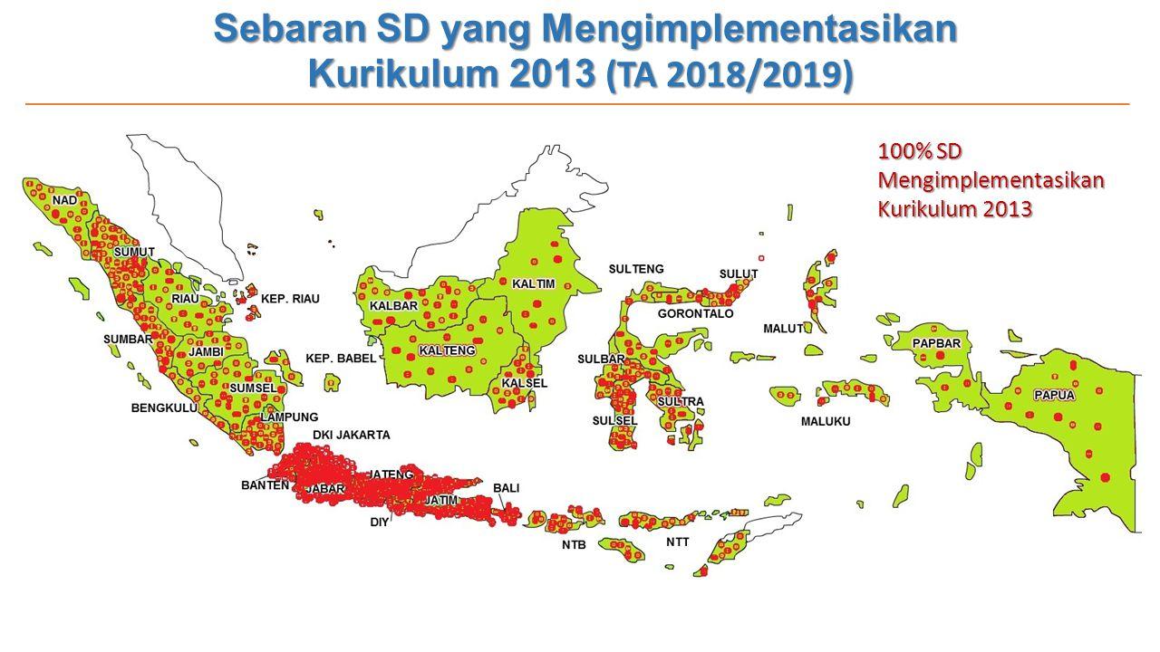 Sebaran SD yang Mengimplementasikan Kurikulum 2013 (TA 2018/2019)
