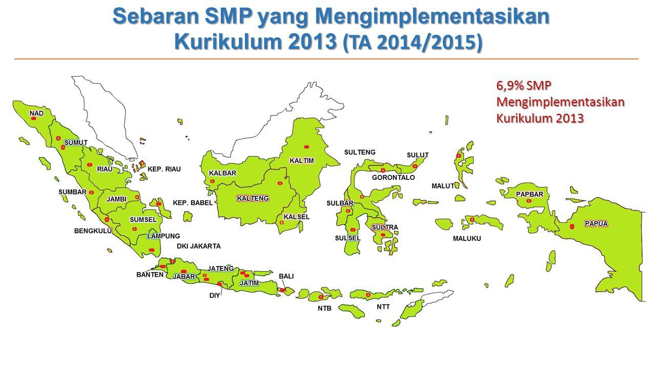 Sebaran SMP yang Mengimplementasikan Kurikulum 2013 (TA 2014/2015)