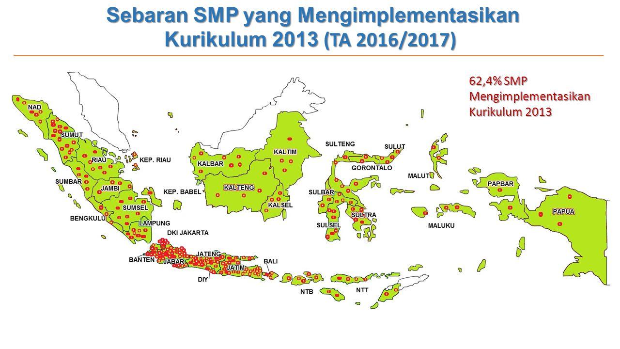 Sebaran SMP yang Mengimplementasikan Kurikulum 2013 (TA 2016/2017)