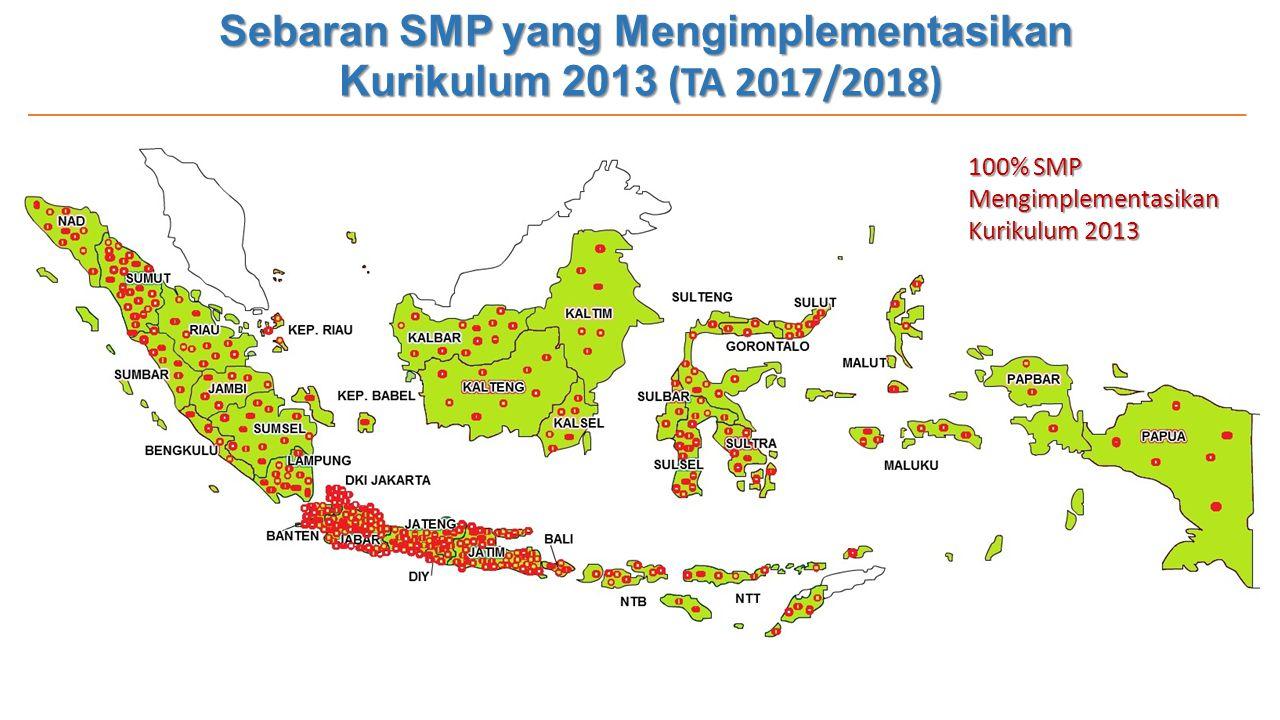 Sebaran SMP yang Mengimplementasikan Kurikulum 2013 (TA 2017/2018)