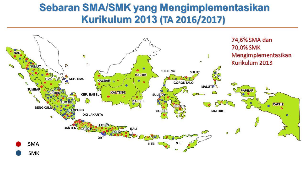 Sebaran SMA/SMK yang Mengimplementasikan Kurikulum 2013 (TA 2016/2017)