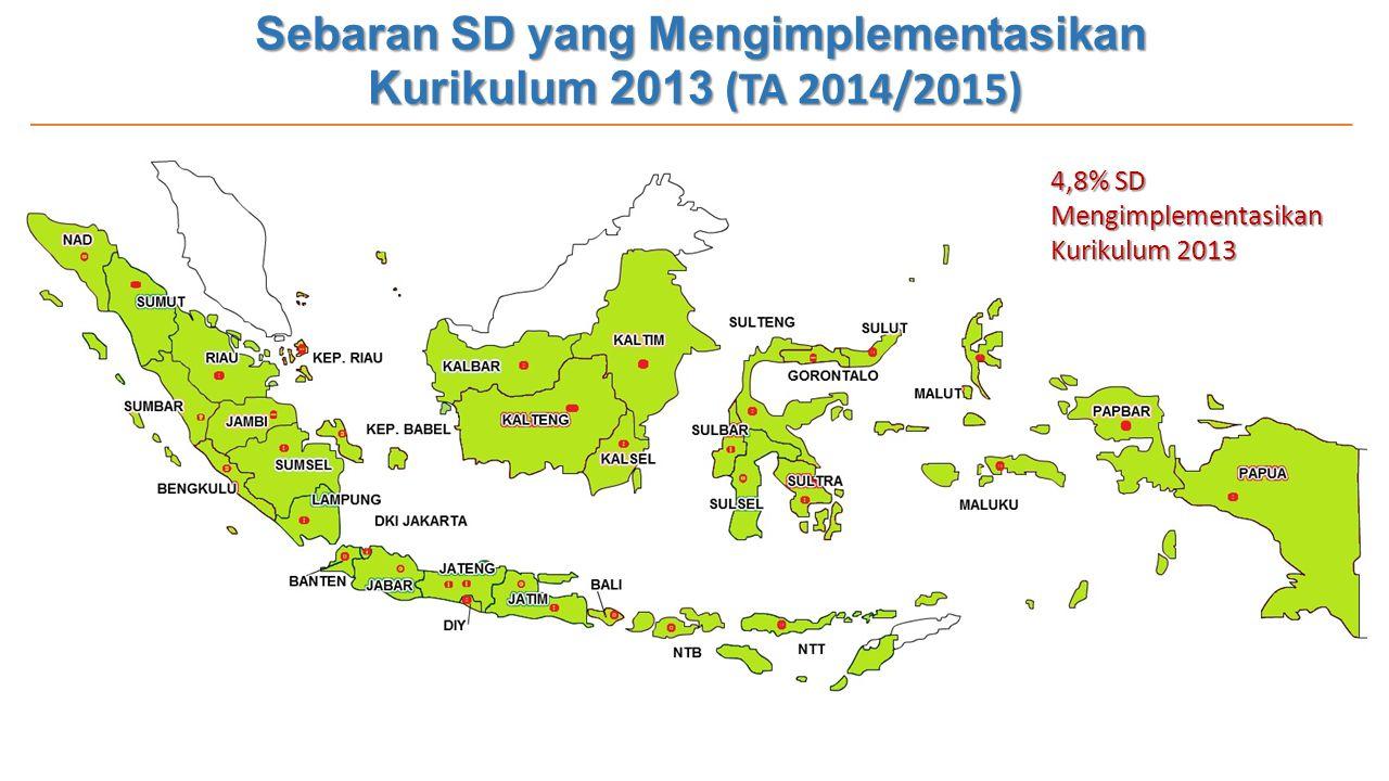 Sebaran SD yang Mengimplementasikan Kurikulum 2013 (TA 2014/2015)