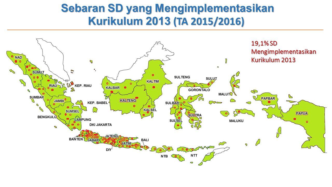Sebaran SD yang Mengimplementasikan Kurikulum 2013 (TA 2015/2016)