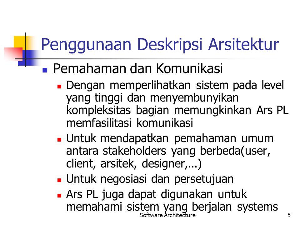 Penggunaan Deskripsi Arsitektur
