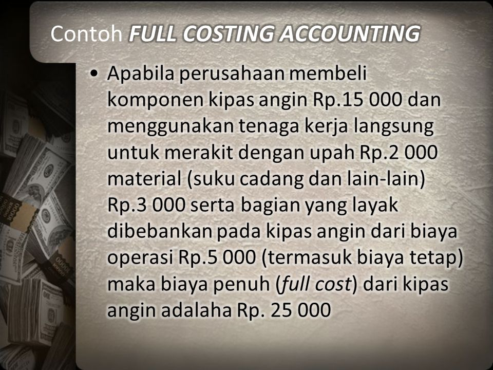 Contoh FULL COSTING ACCOUNTING