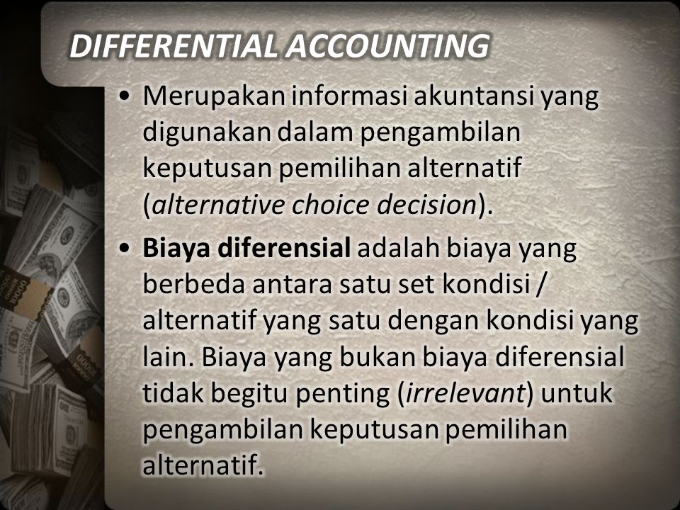 DIFFERENTIAL ACCOUNTING