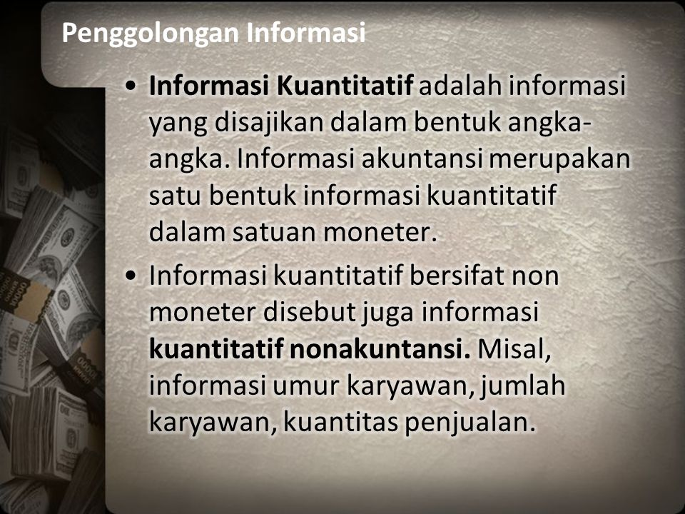 Penggolongan Informasi