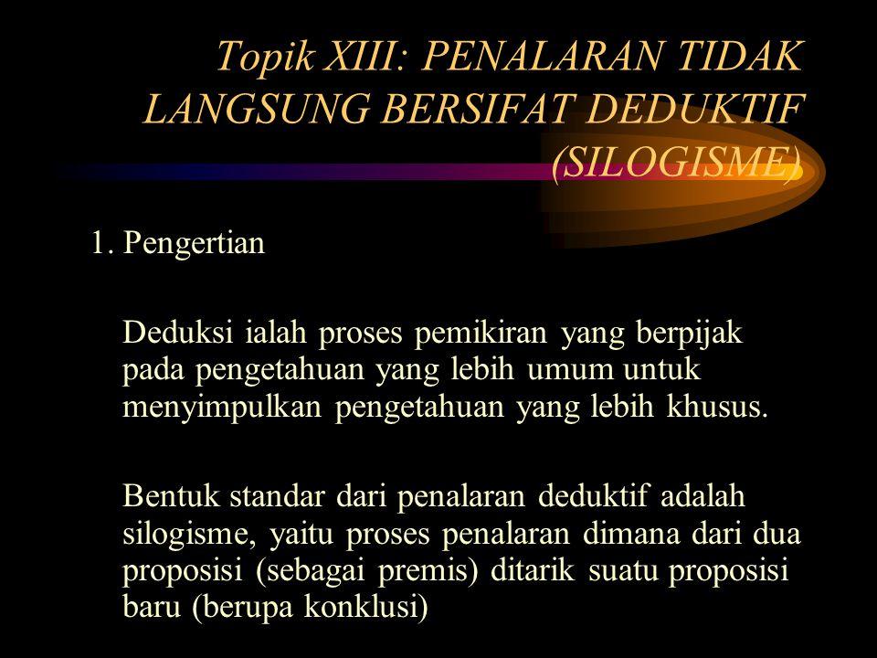 Topik XIII: PENALARAN TIDAK LANGSUNG BERSIFAT DEDUKTIF (SILOGISME)