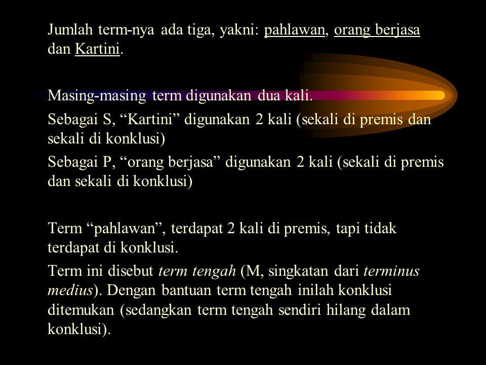 Jumlah term-nya ada tiga, yakni: pahlawan, orang berjasa dan Kartini.