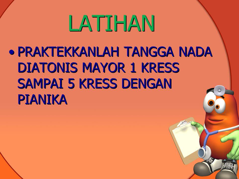 LATIHAN PRAKTEKKANLAH TANGGA NADA DIATONIS MAYOR 1 KRESS SAMPAI 5 KRESS DENGAN PIANIKA