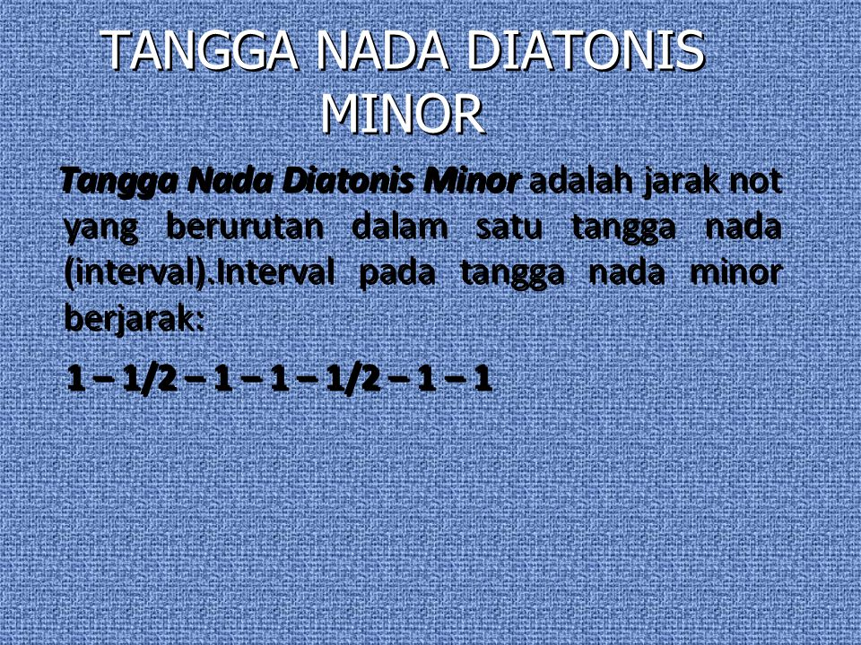 TANGGA NADA DIATONIS MINOR