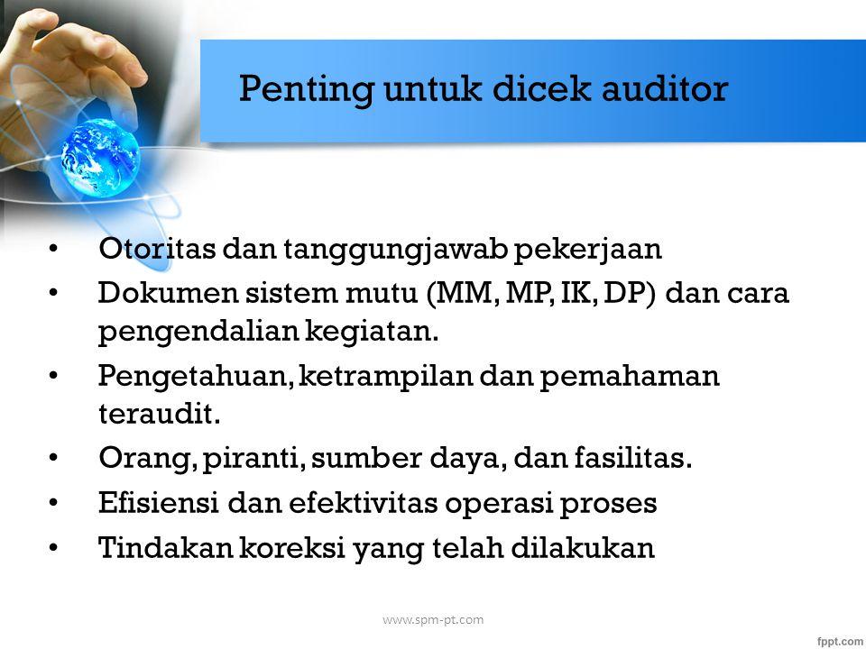 Penting untuk dicek auditor