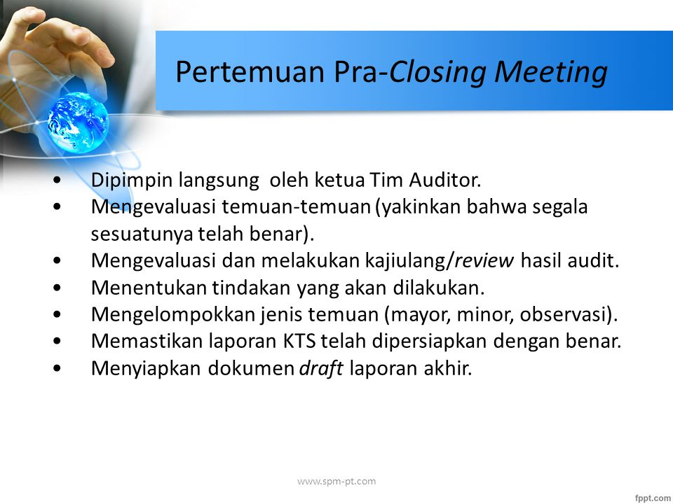 Pertemuan Pra-Closing Meeting