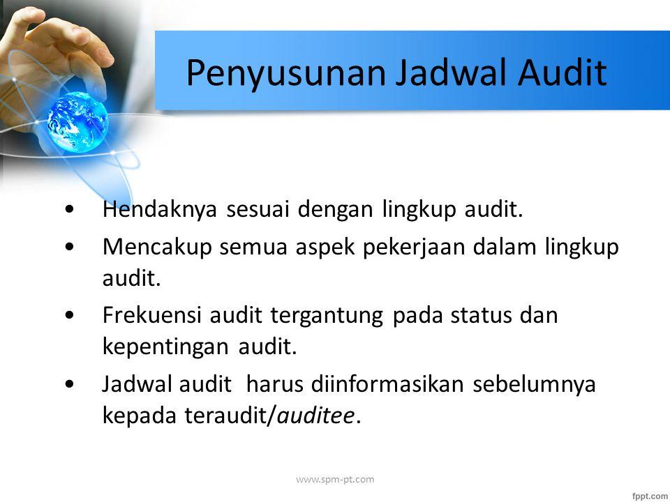 Penyusunan Jadwal Audit