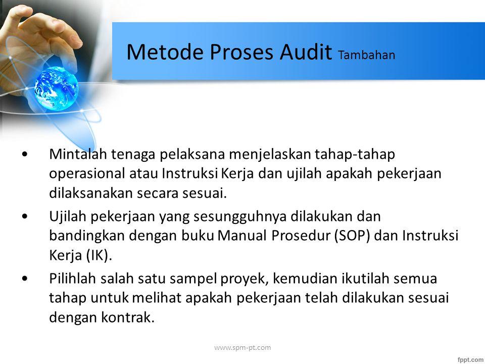 Metode Proses Audit Tambahan