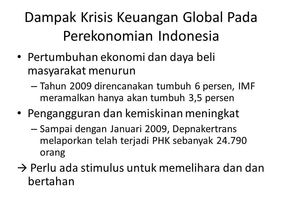 Dampak Krisis Keuangan Global Pada Perekonomian Indonesia