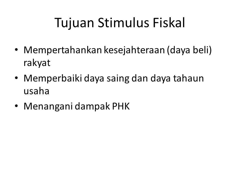 Tujuan Stimulus Fiskal