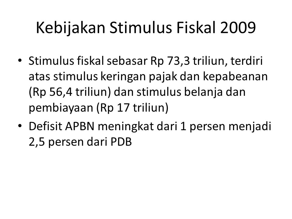Kebijakan Stimulus Fiskal 2009