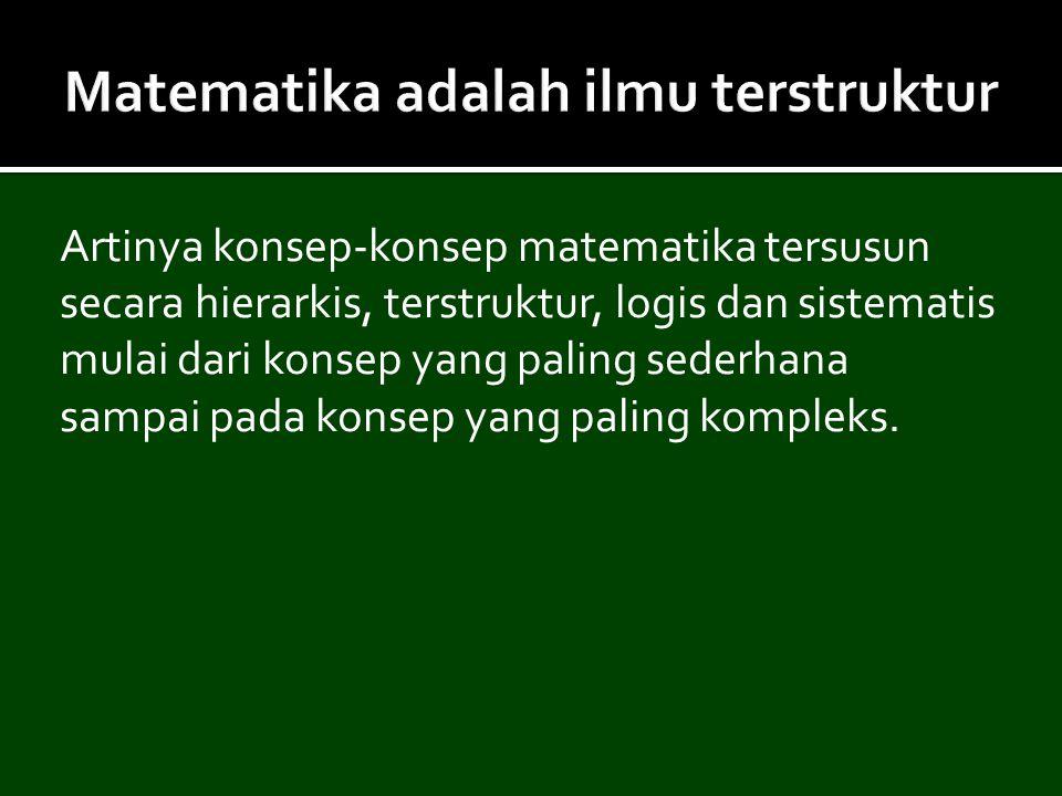 Matematika adalah ilmu terstruktur