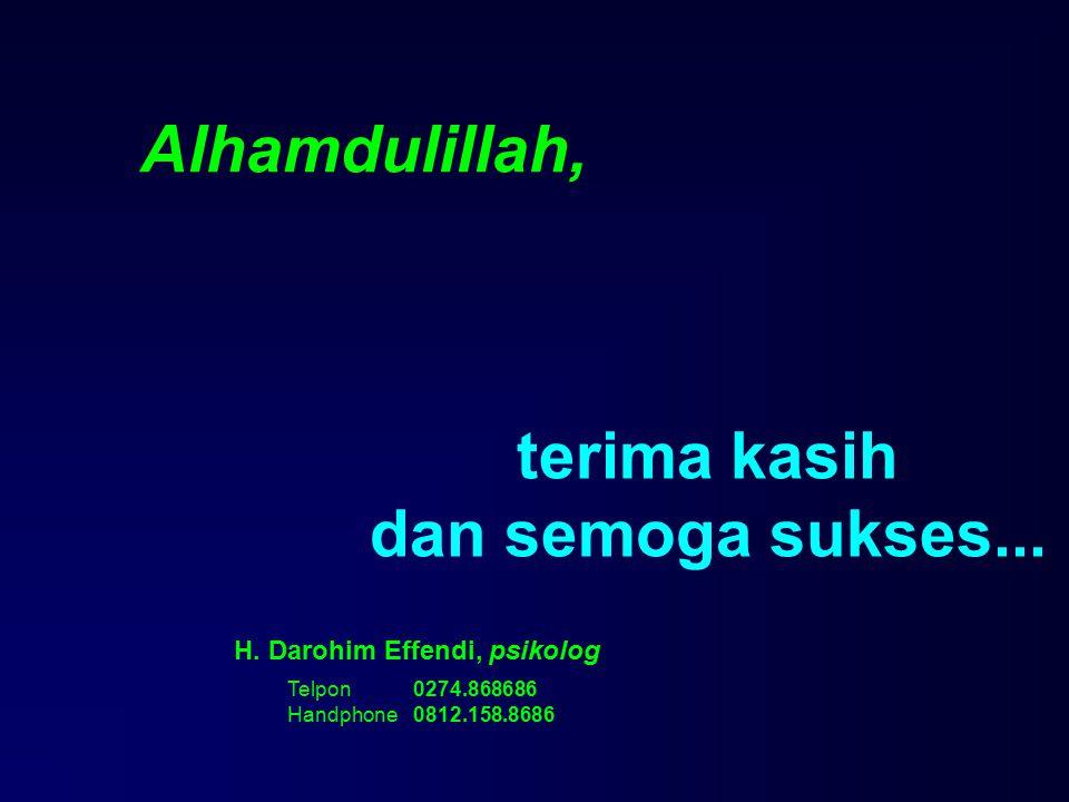 terima kasih dan semoga sukses... H. Darohim Effendi, psikolog