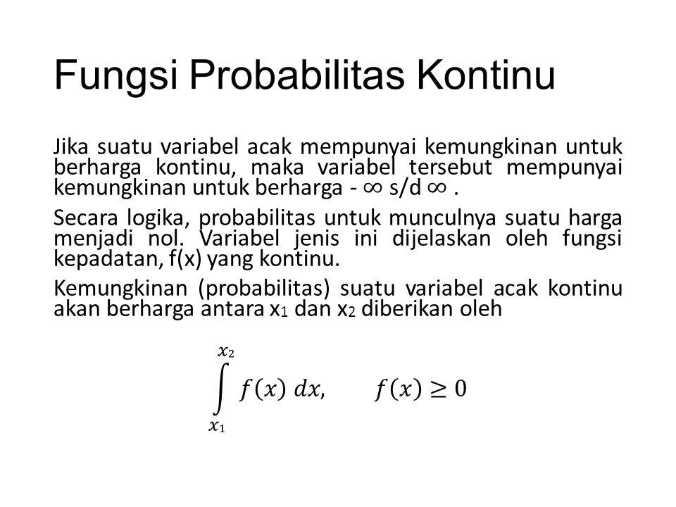 Fungsi Probabilitas Kontinu