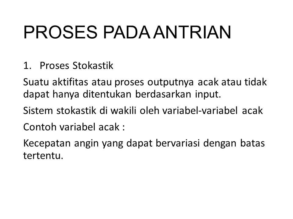 PROSES PADA ANTRIAN Proses Stokastik