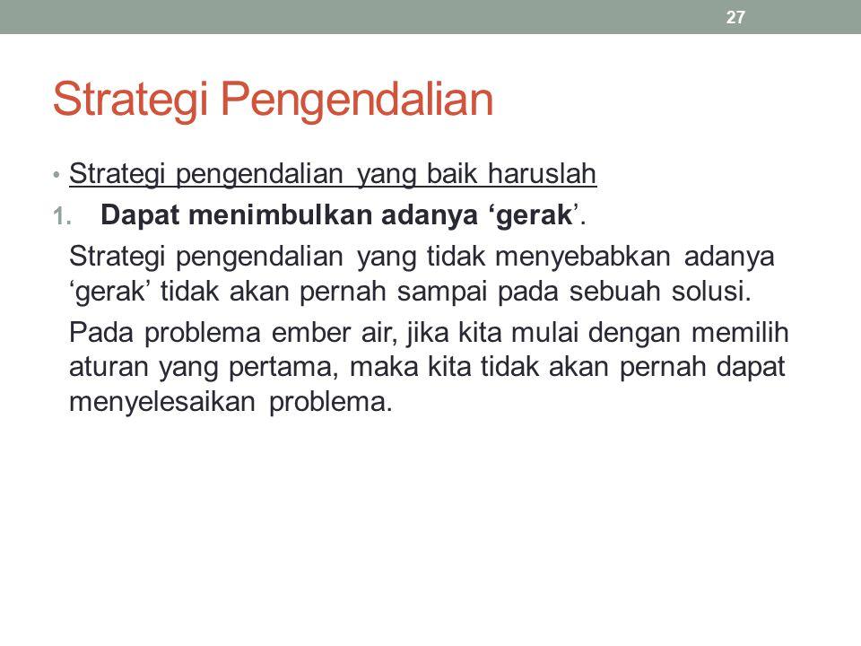 Strategi Pengendalian