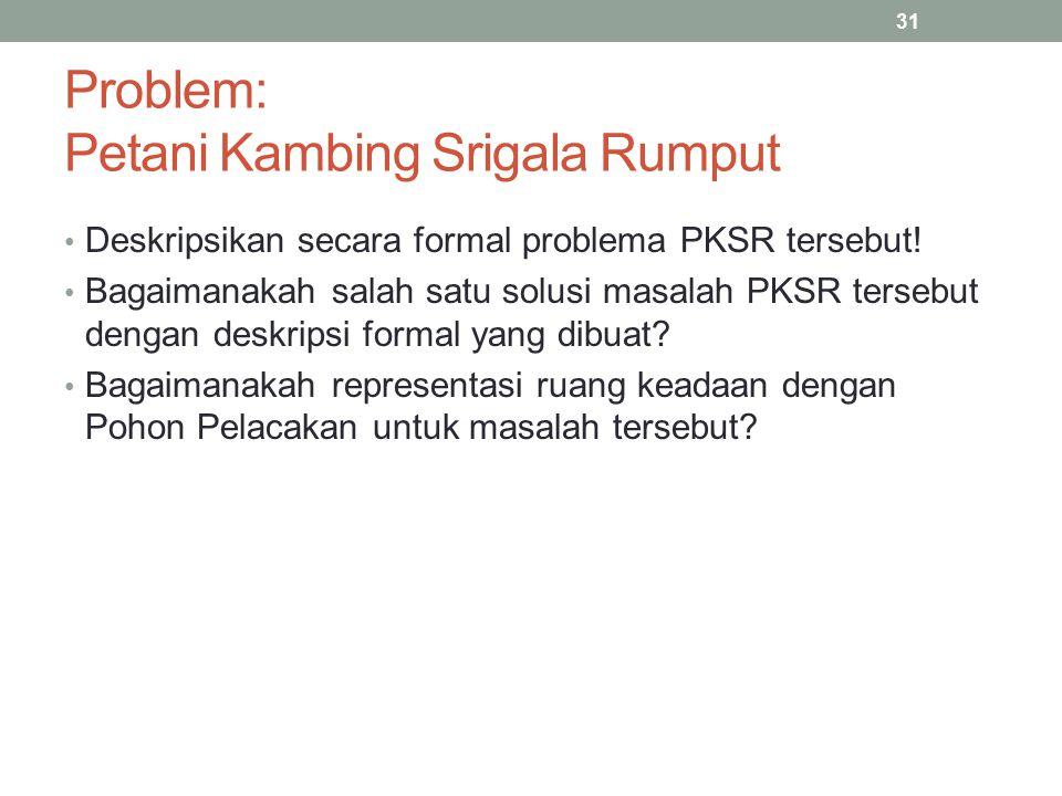 Problem: Petani Kambing Srigala Rumput