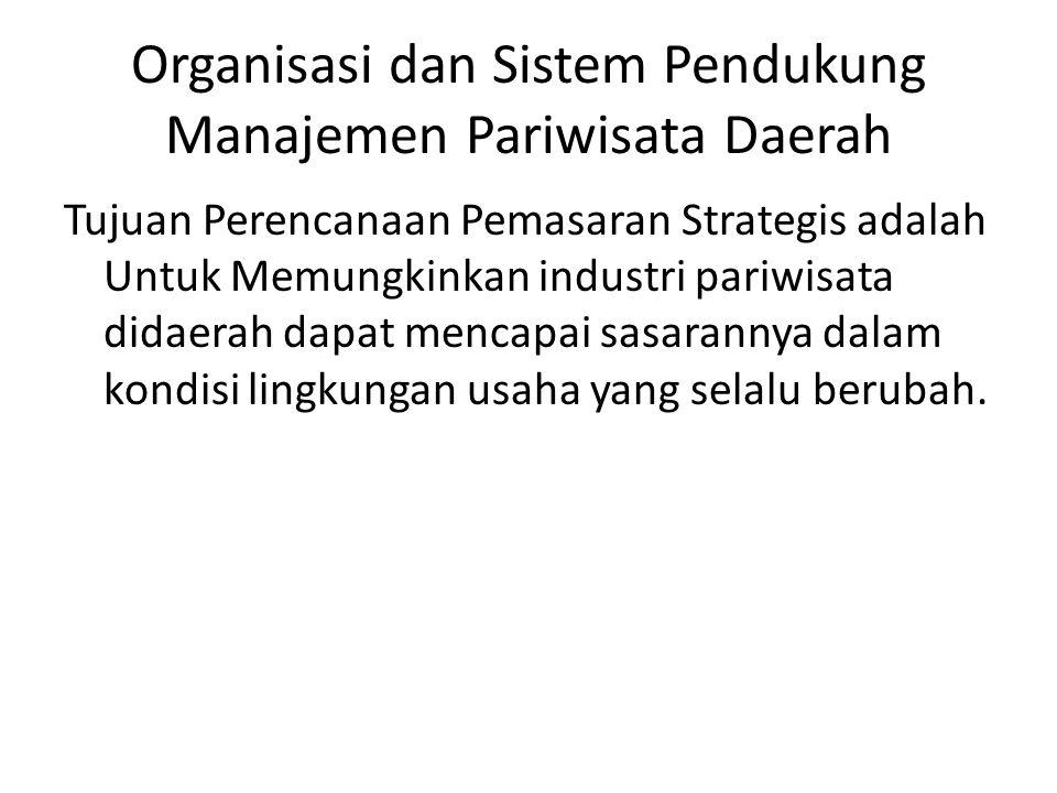 Organisasi dan Sistem Pendukung Manajemen Pariwisata Daerah